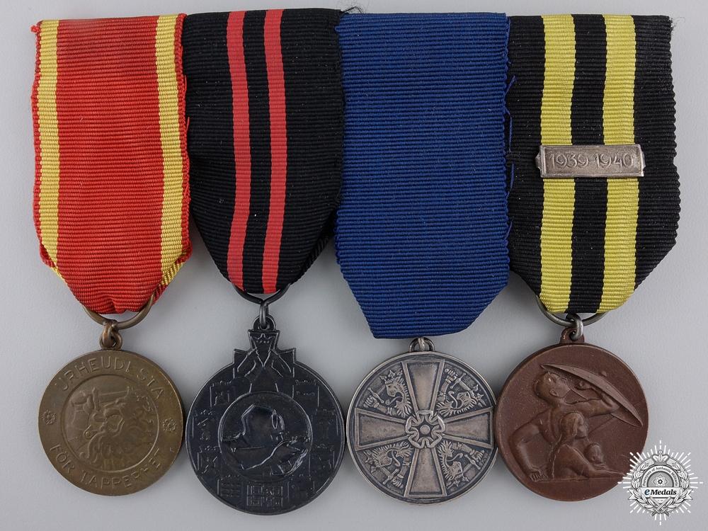 A Second War Finish Civil Defence Medal Bar
