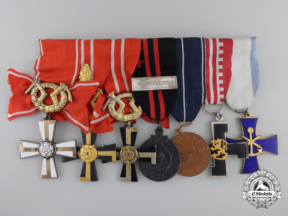 A Second War Finnish Naval Medal Group