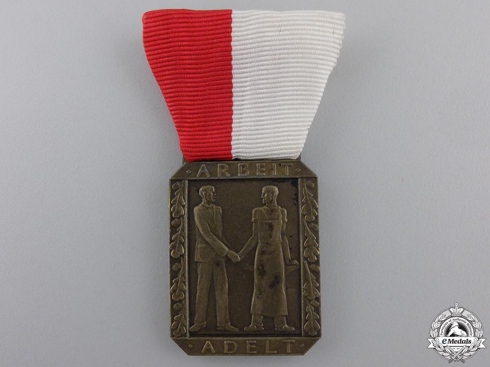 A Second War German Industrial Merit Award 1935