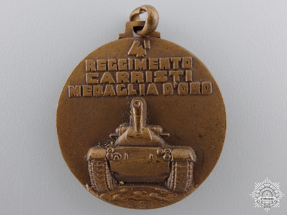Italy, Fascist State. A Fourth Tank Regiment Medal, c.1941