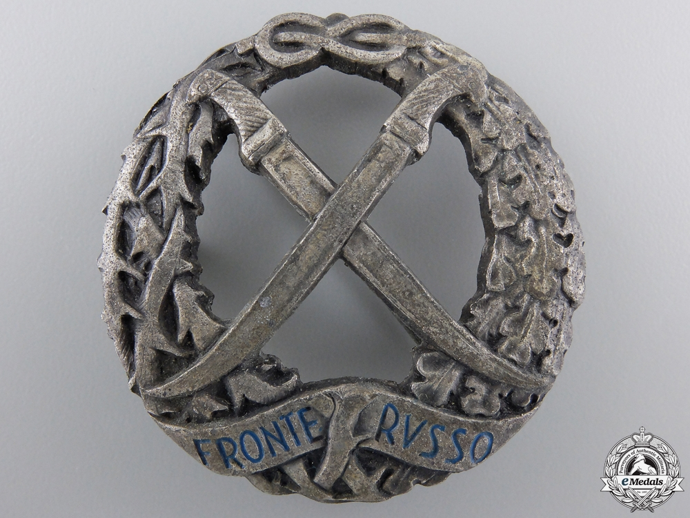 A Second War Italian Russian Front Badge