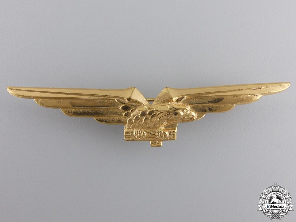 A Second War Italian Air Force Pilot's Badge