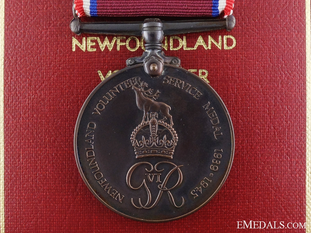 A Second War Newfoundland Volunteer Service Medal