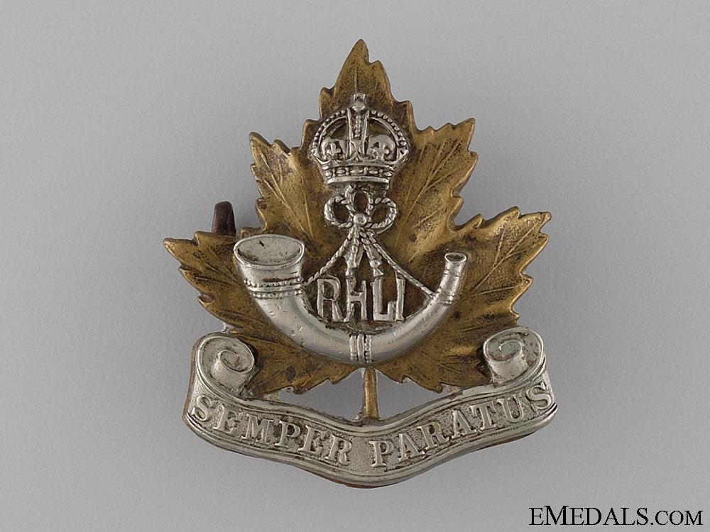 A Second War Royal Hamilton Light Infantry Cap Badge