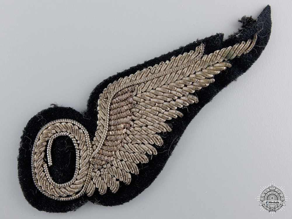 A Second War Royal Air Force Officers Observer Wing