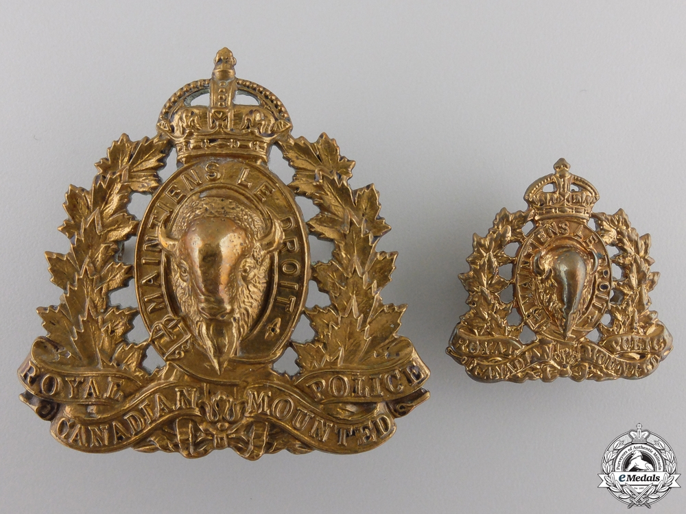 Second War Royal Canadian Mounted Police (RCMP) Badges