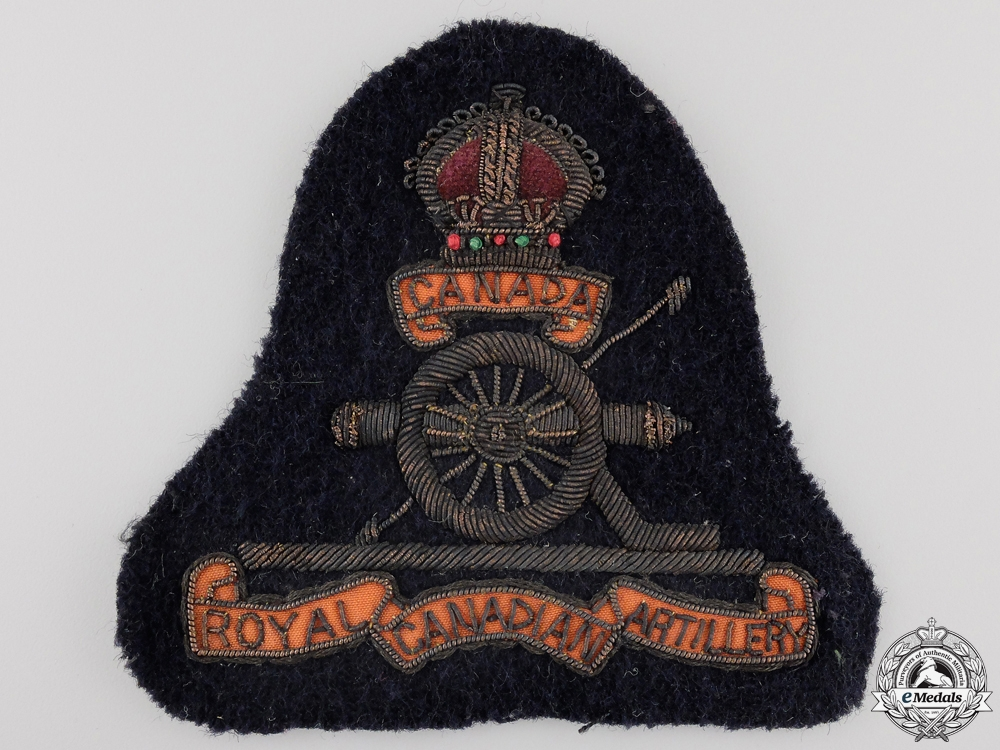 A Second War Royal Canadian Artillery Jacket Patch