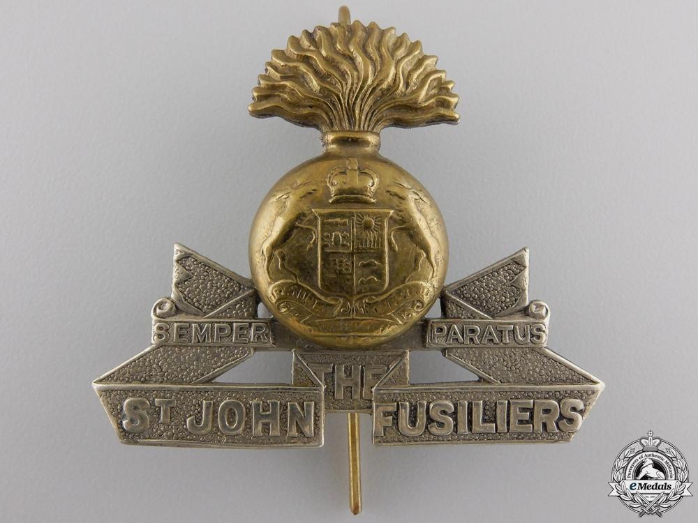 A Second War Saint John Fusiliers Officer's Cap Badge