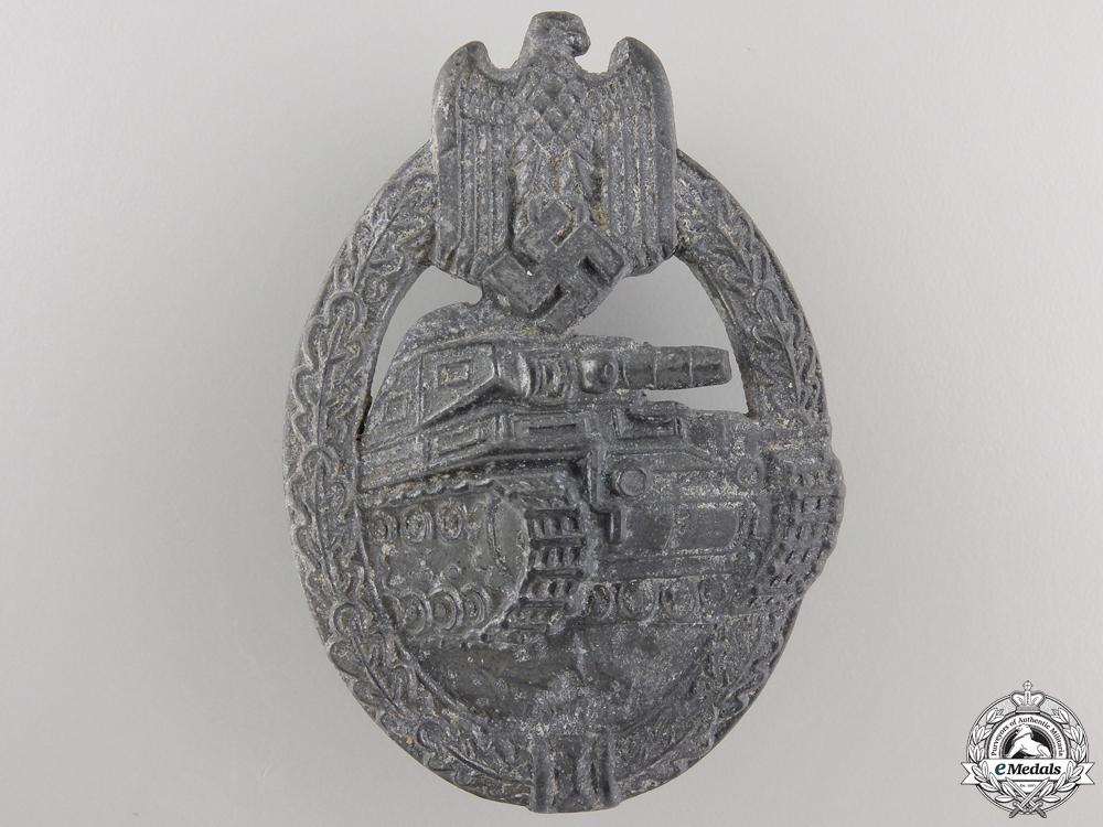 A Second War Tank Badge; Silver Grade