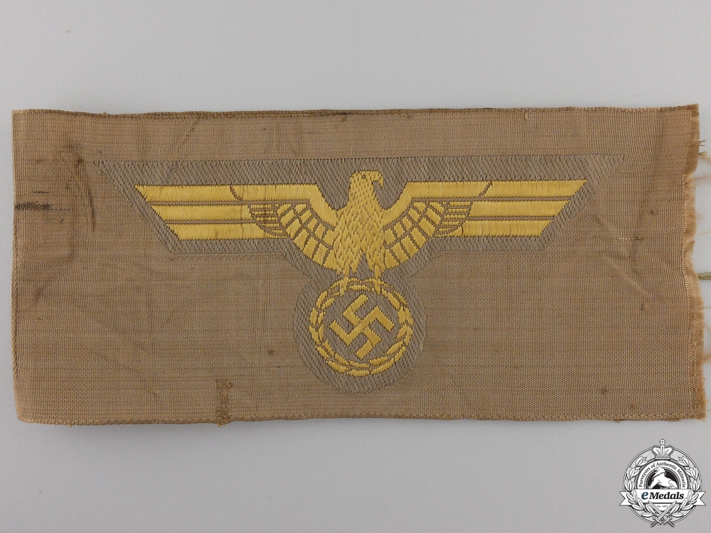 A Section of Mint Kriegsmarine EM/NCO's Tropical Breast Eagles