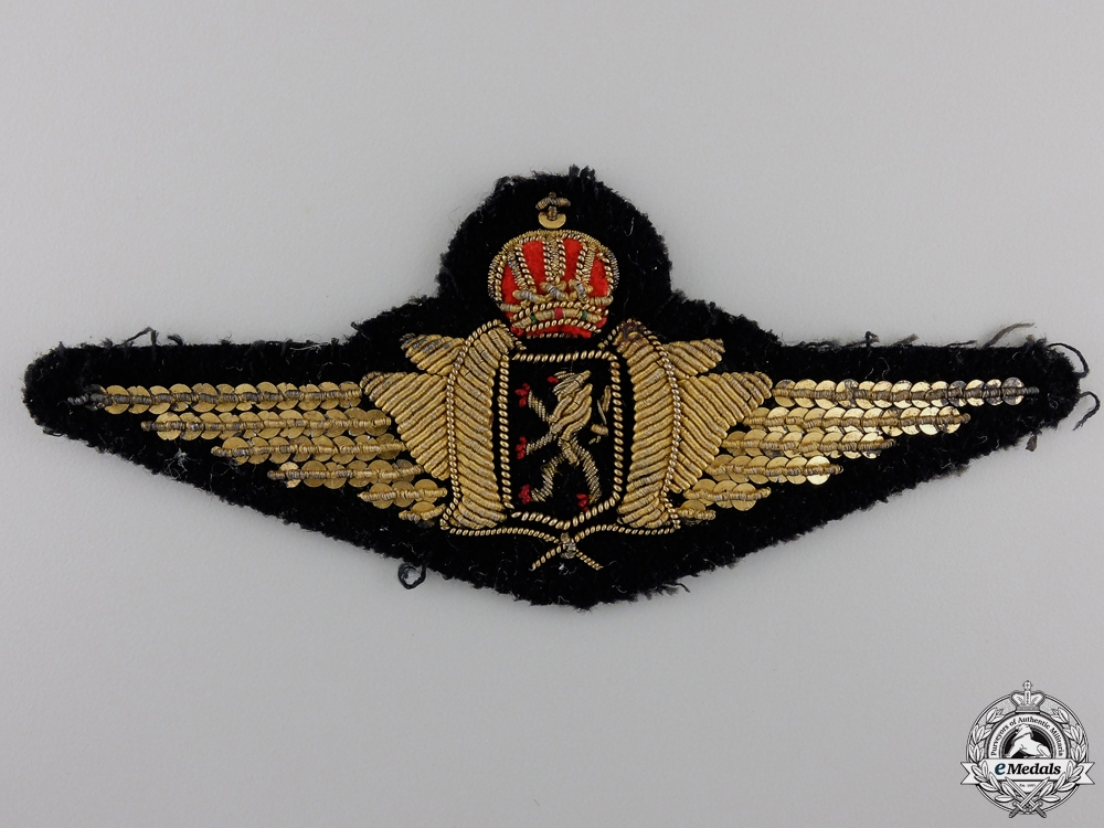 A Set of Belgian Bullion Pilot's Wings