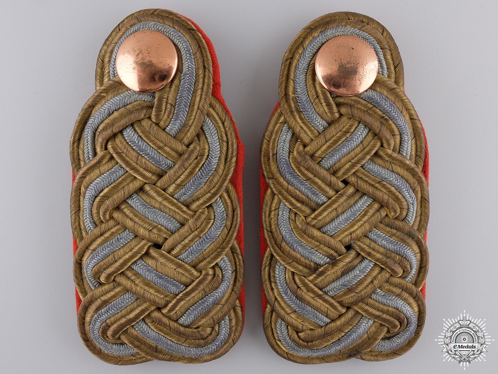 A Set of First War Prussian General's Shoulder Board Pair