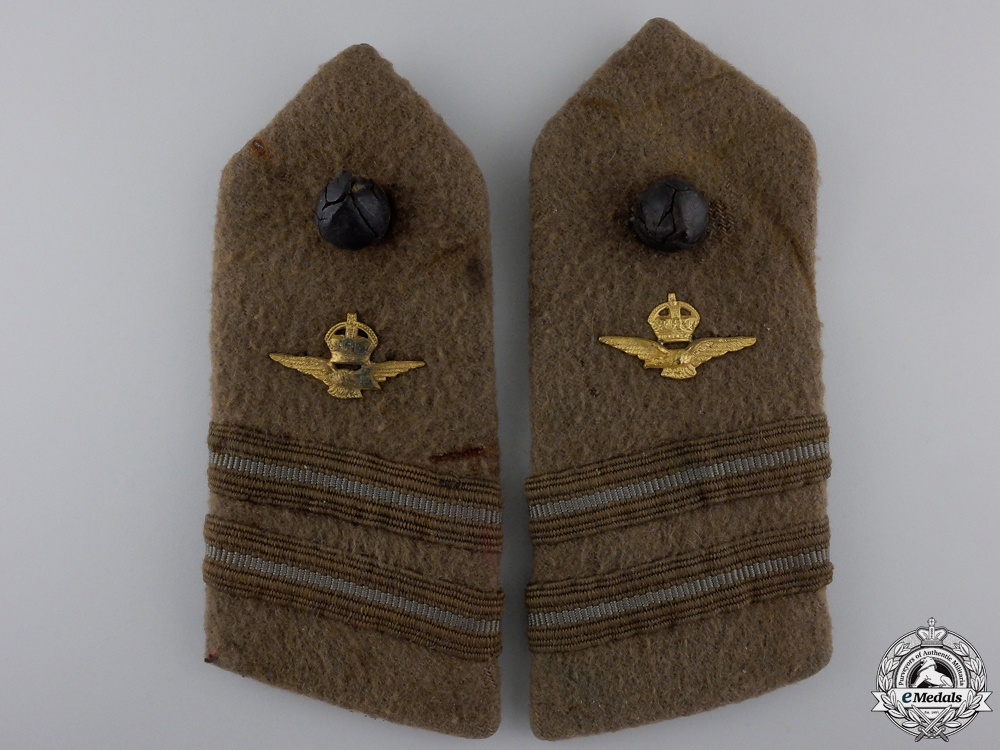 A Set of First War Royal Air Force Lieutenant Shoulder Boards