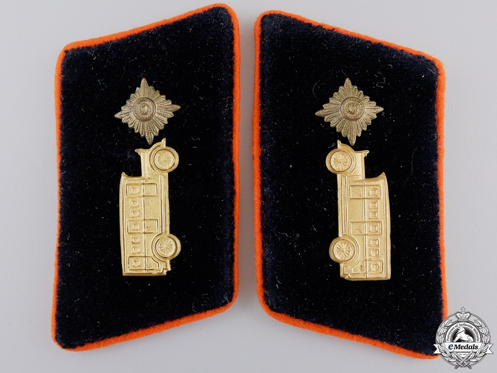 A Set of German Third Reich Street-Car Operator Collar Tabs