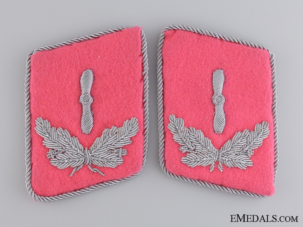 A Set of Luftwaffe Flight Engineer Collar Tabs