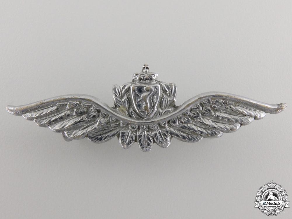 A Set of Royal Norwegian Air Force (RNAF) Pilot Wings