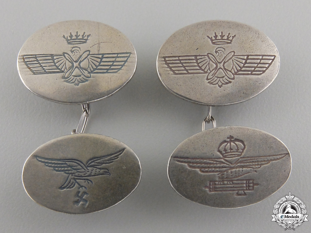 A Set of Spanish Civil War Air Force Cufflinks
