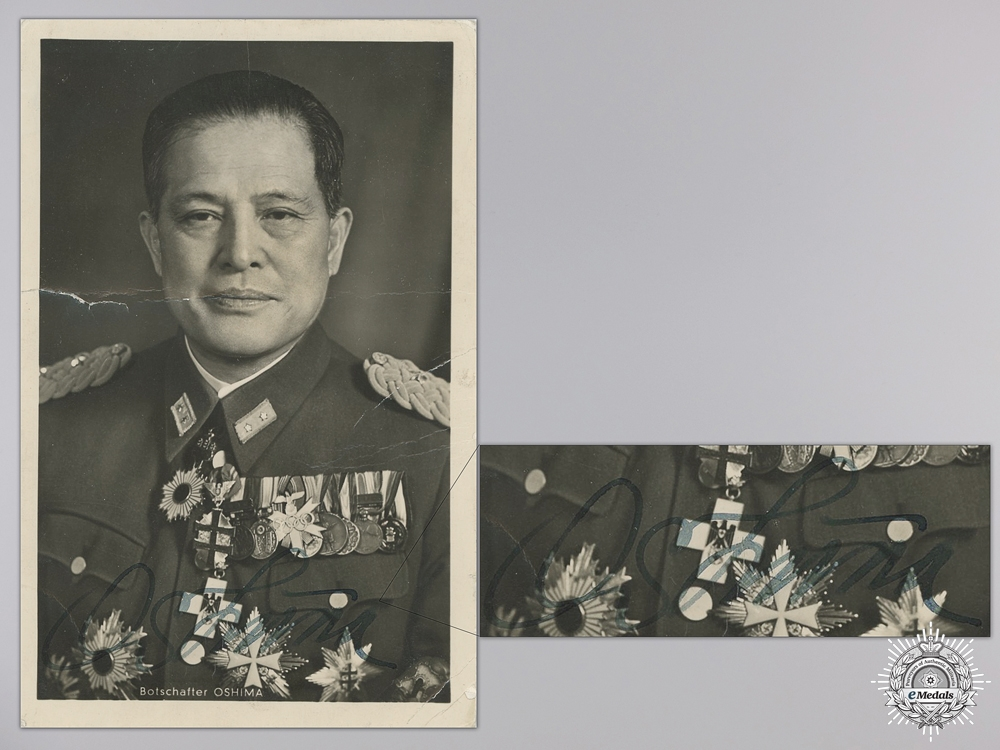 A Signed Studio Photo of of Japanese Ambassador to Berlin