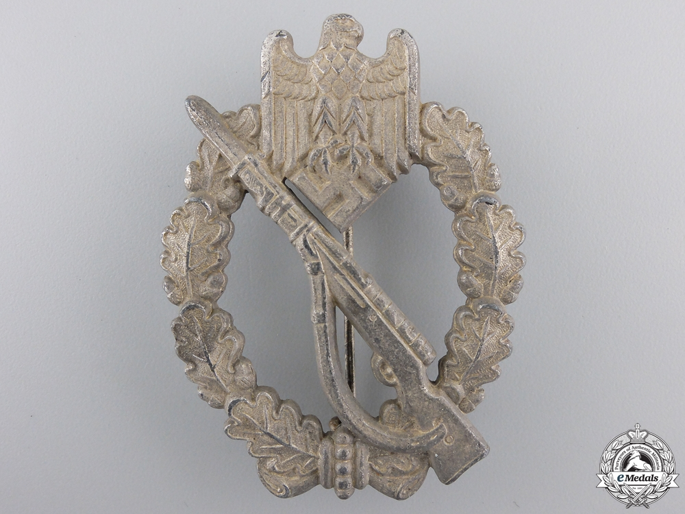 A Silver Grade Infantry Badge; Field Repair