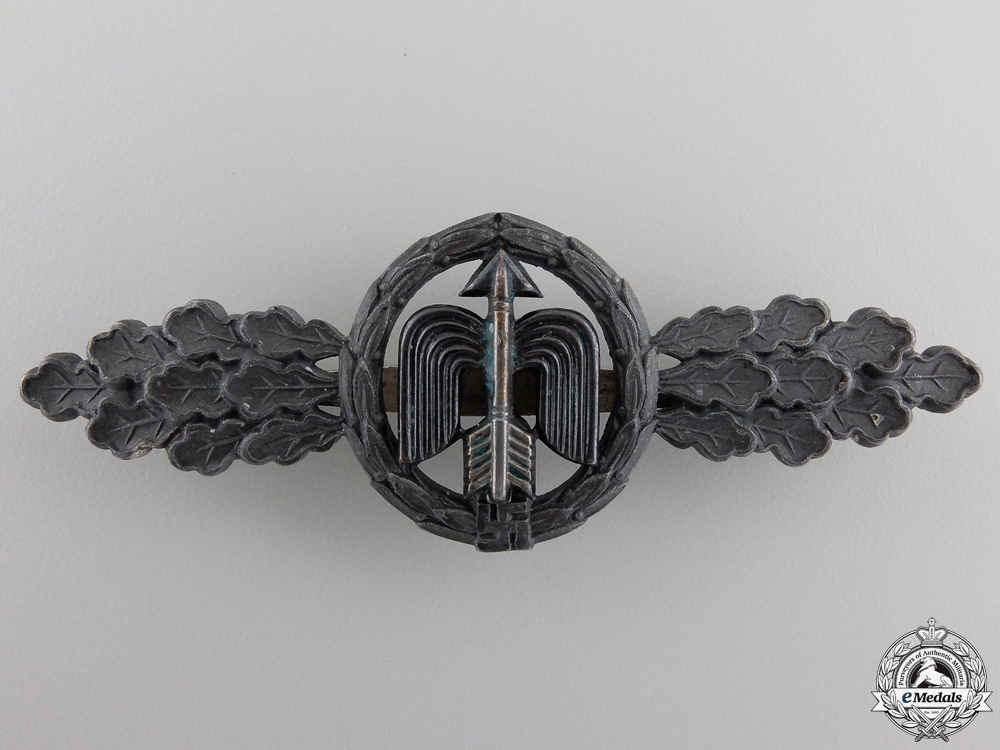 A Silver Grade Luftwaffe Squadron Clasp for Fighter Pilots by G.H. Osang
