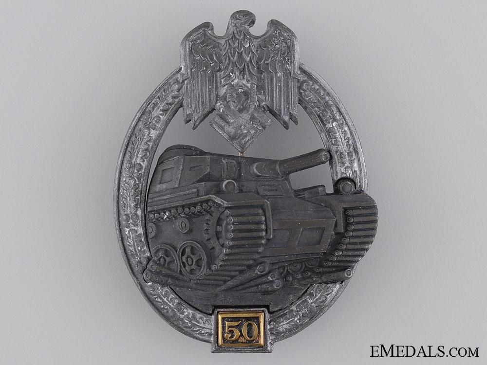 """A Silver Grade Tank Badge """"50"""""""