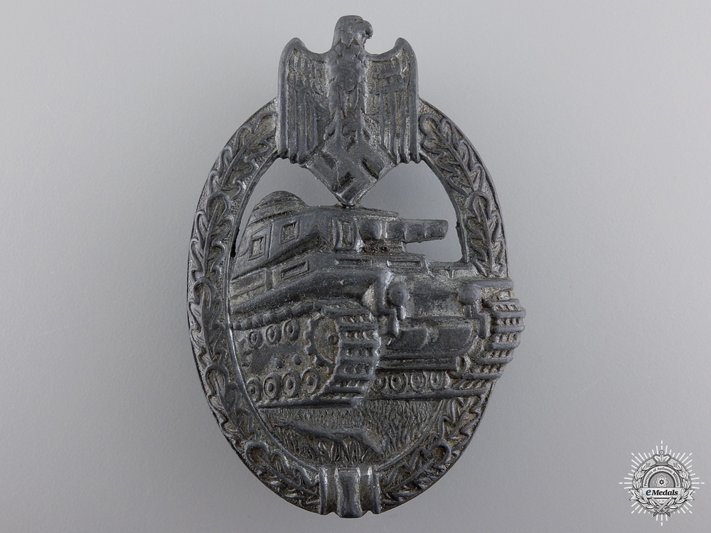 A Silver Grade Tank Badge by Rudolf Karneth & Söhne