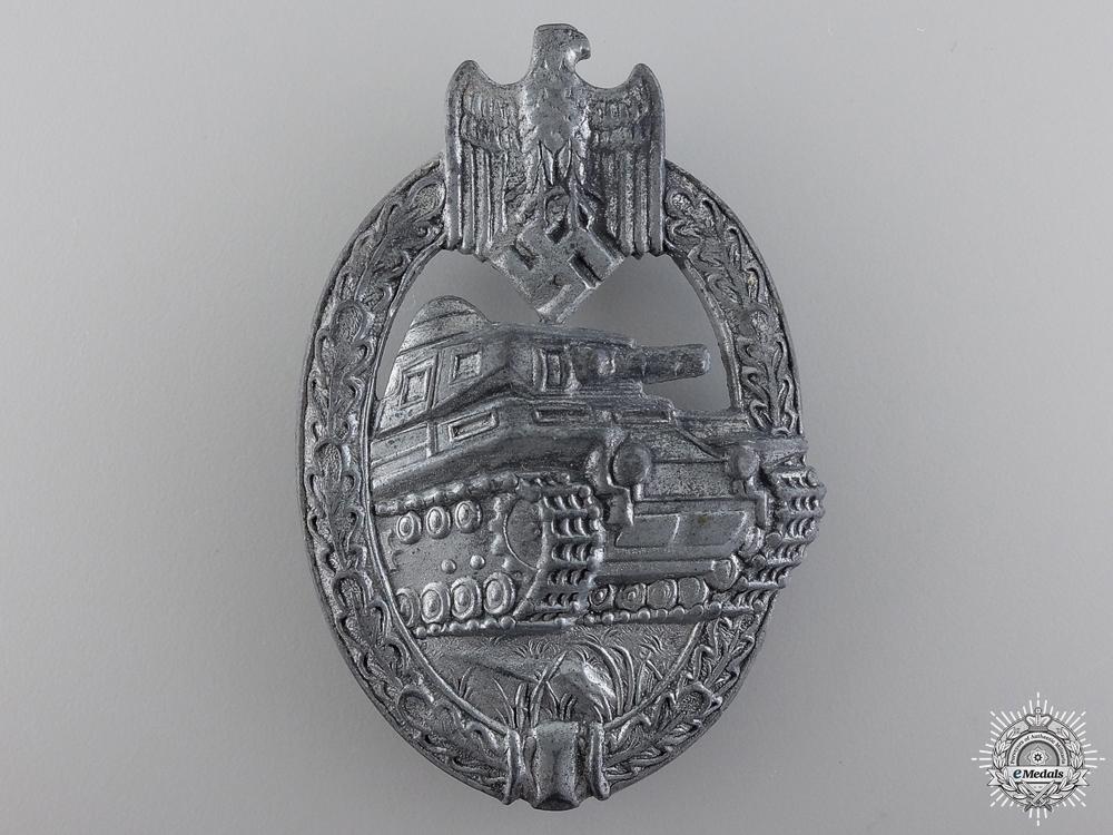 A Silver Grade Tank Badge by Adolf Scholze