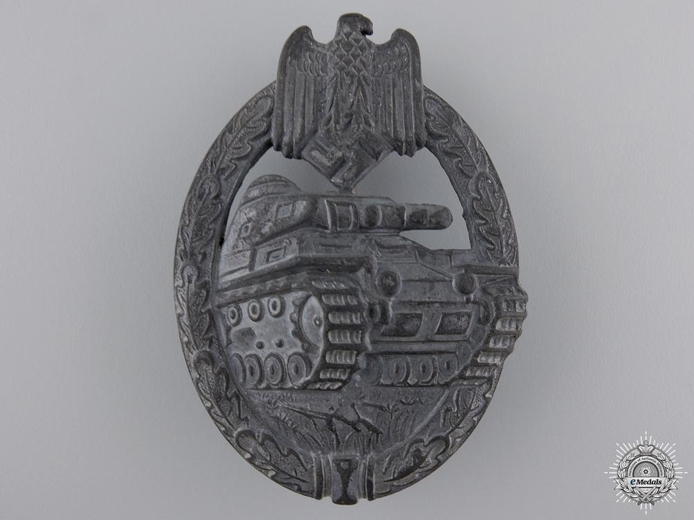 A Silver Grade Tank Assault Badge by Assmann