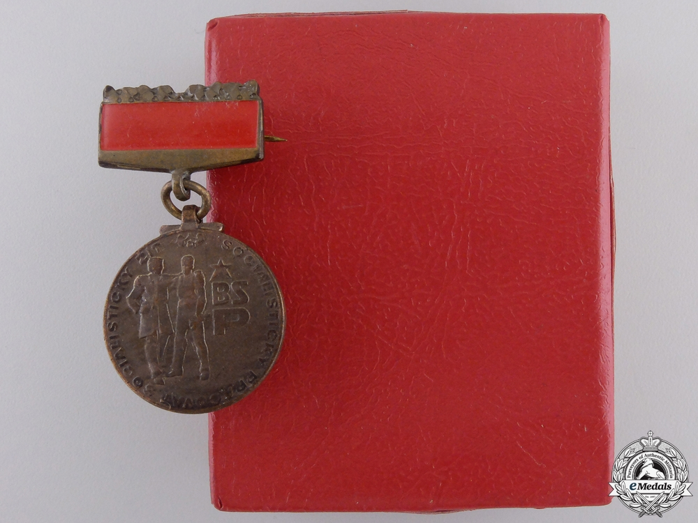 A Slovakian Nuclear Defence Medal with Case