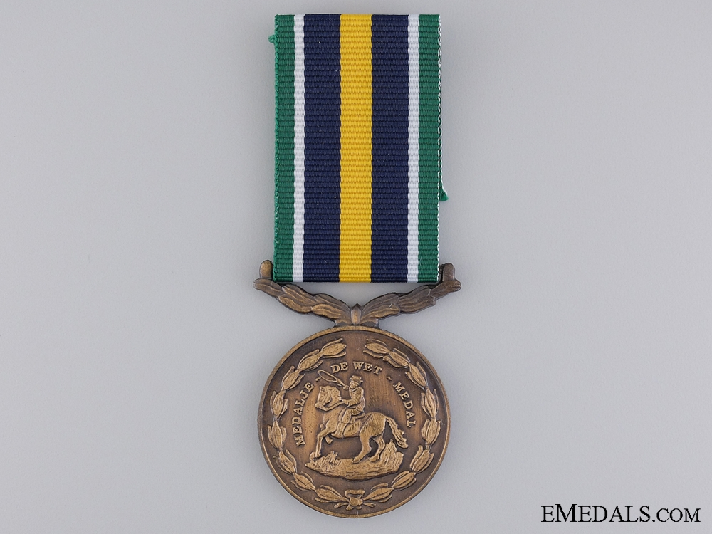 A South African De Wet Medal