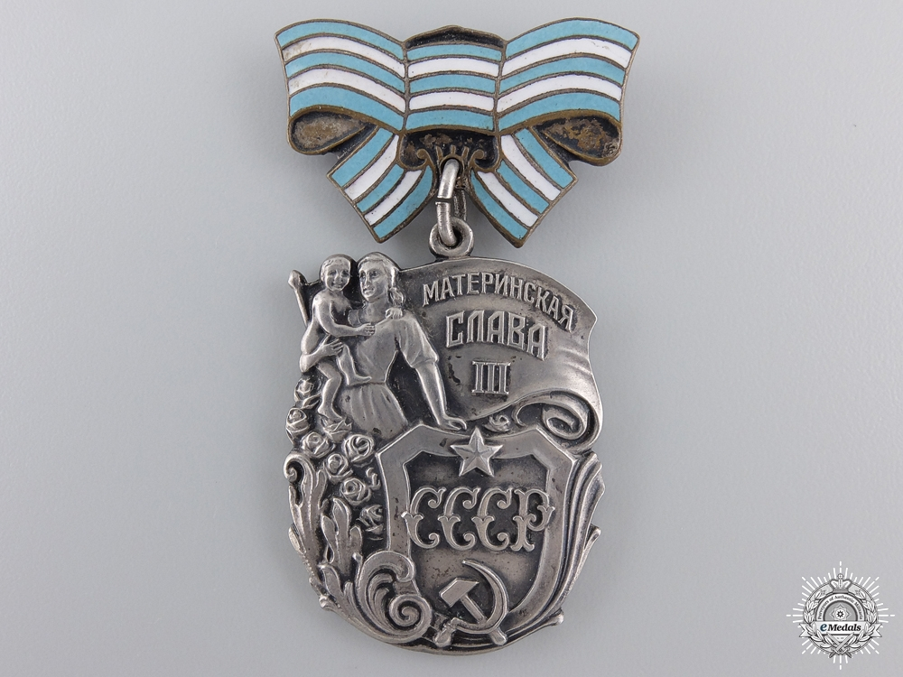 A Soviet Order of Maternal Glory; Third class; Variation 2