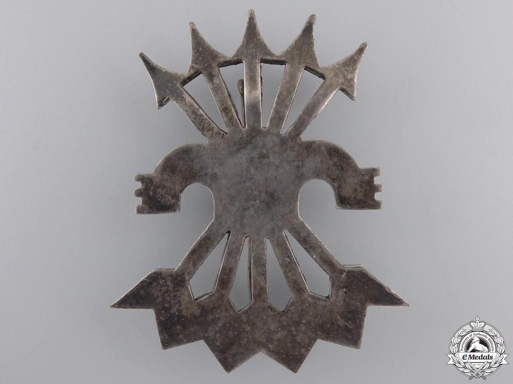 A Spanish Falangist-Blue Division Cap Badge