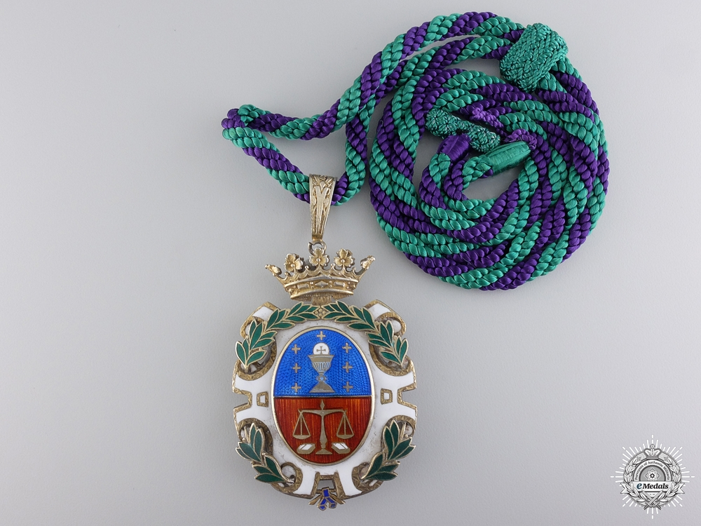 Spain, Kingdom. A  Lawyer's Academy Association Badge, Numbered, c.1960