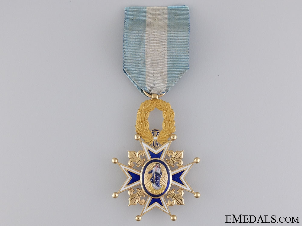 A Spanish Order of Charles III in Gold; Officer's Cross