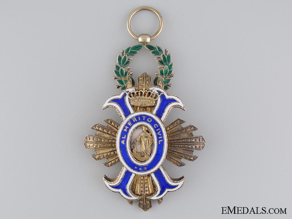A Spanish Order of Civil Merit; Officer's Cross