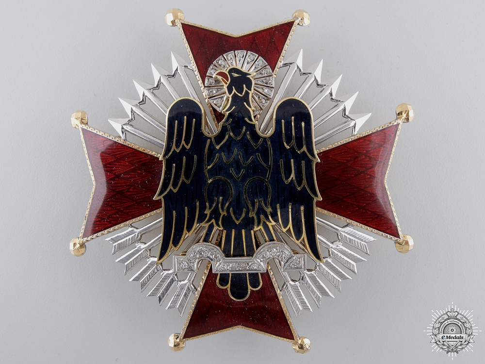 A Spanish Order of Cisneros in Gold & Diamond; Franco Period