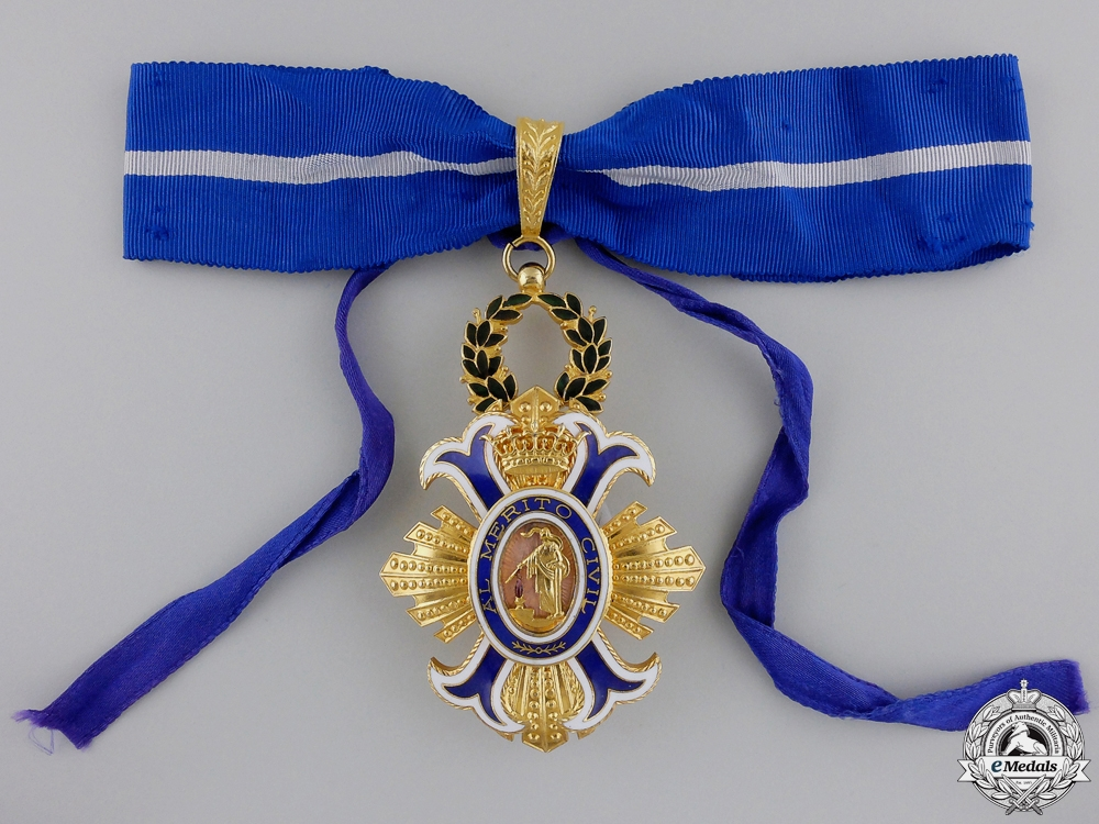 A Spanish Order of Civil Merit & Award Document