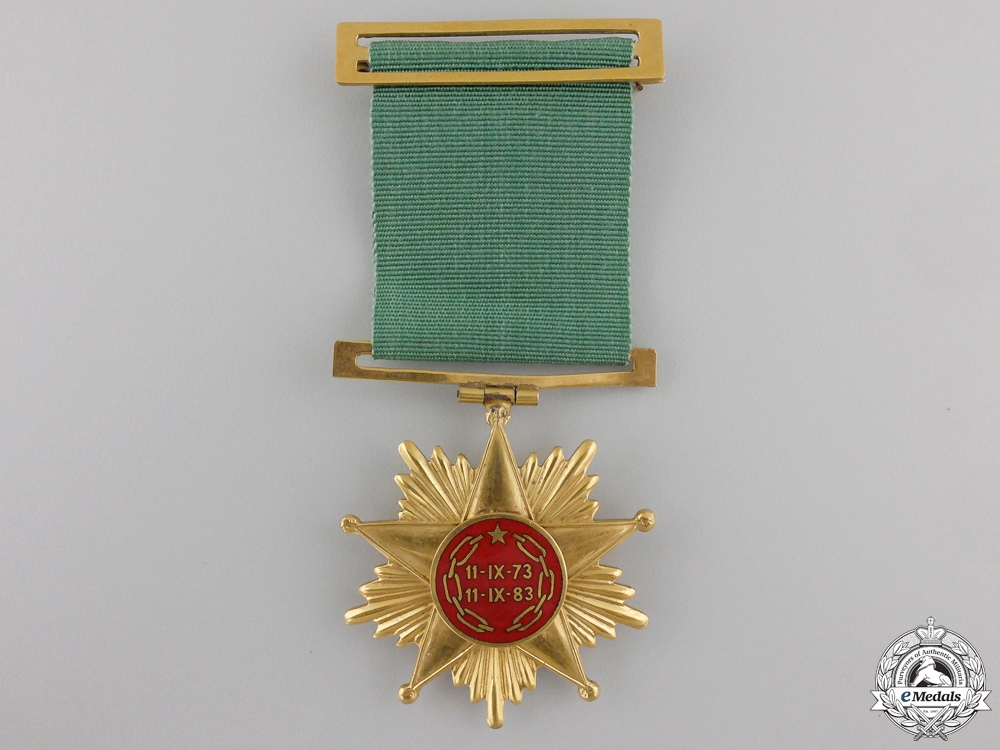 A Chilean 10th Anniversary Medal Commemorating President Allende