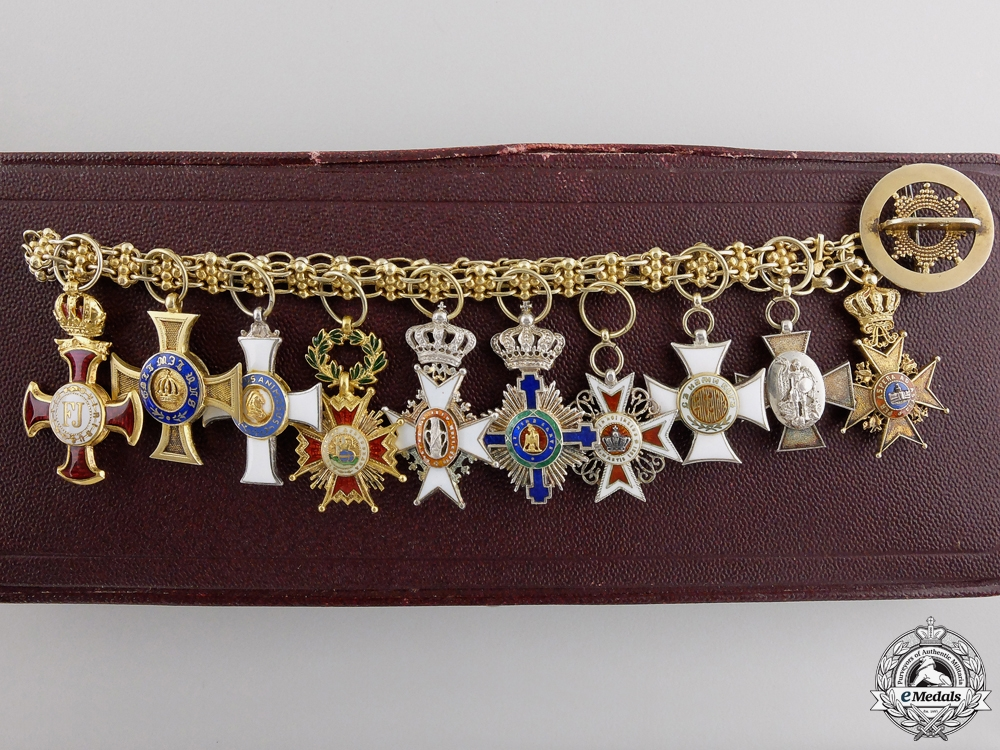 A Superb Group of Ten Miniature Awards by Rothe
