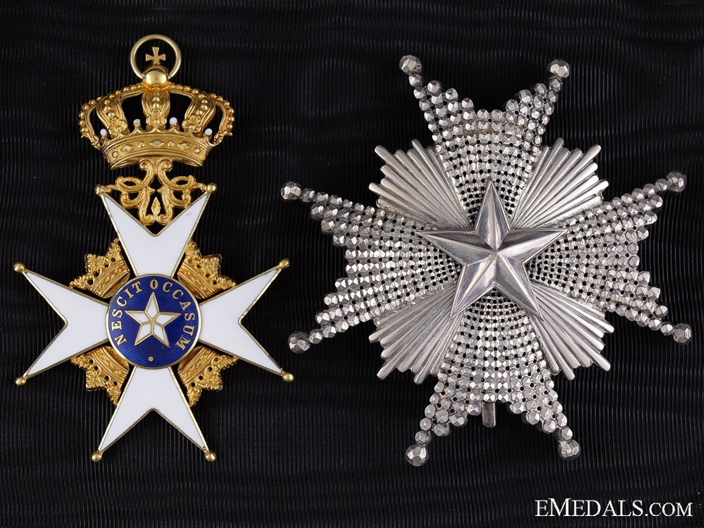 A Swedish Order of the North Star; Grand Cross Set