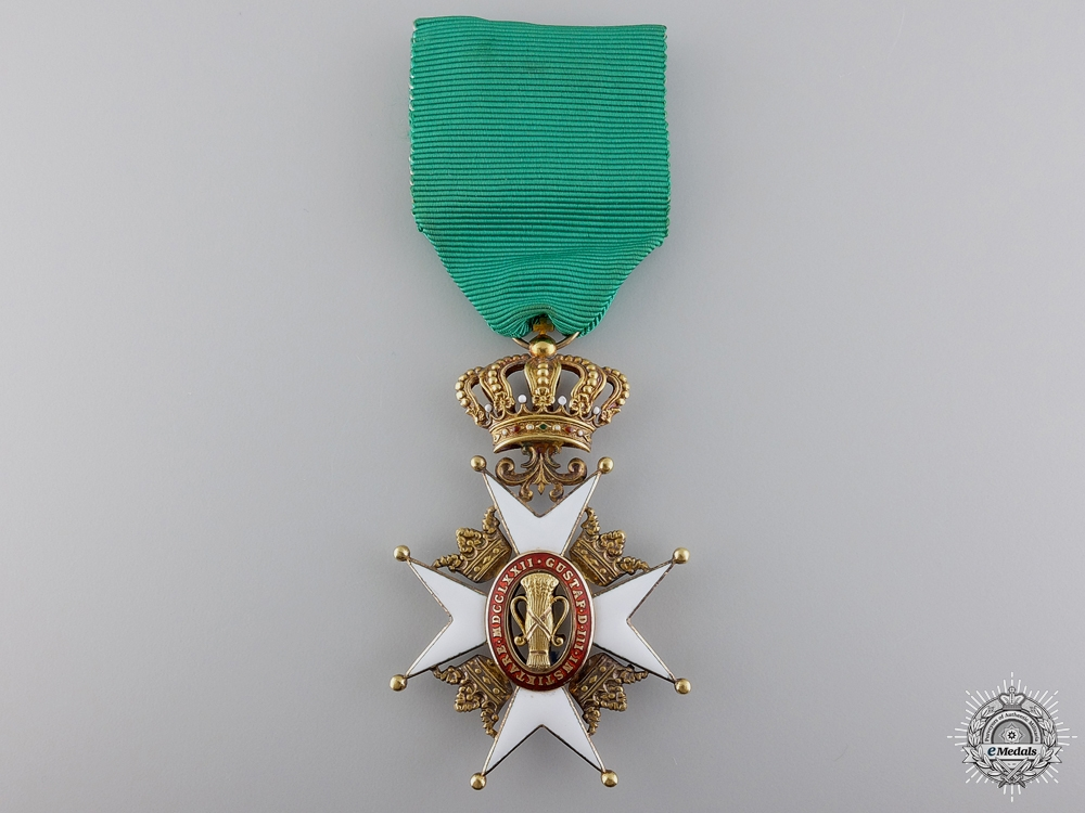 A Swedish Order of Vasa in Gold; Knight's Badge