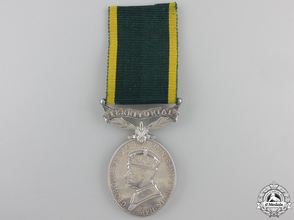 A Territorial Efficiency Medal to the Royal Pioneer Corps
