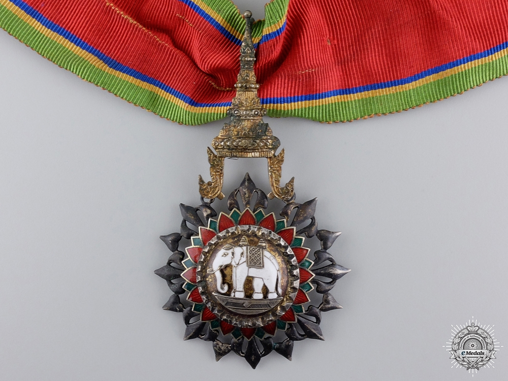A Thai Order of the White Elephant; Commander