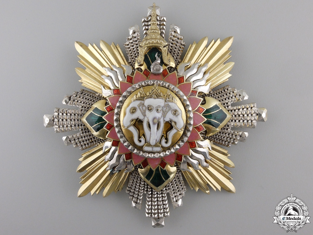 A Thai Order of the Elephant; Grand Cross Star