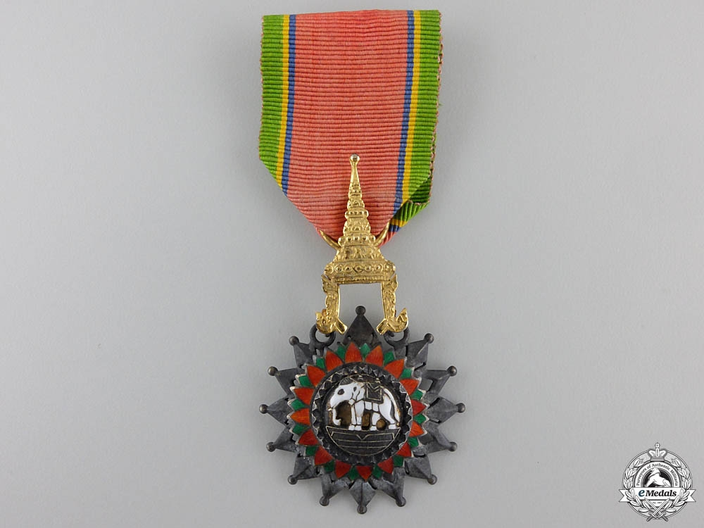 A Thai Order of the White Elephant; Knight