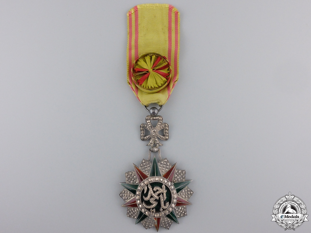 A Tunisian Order of Nichan Iftikhar; Knight
