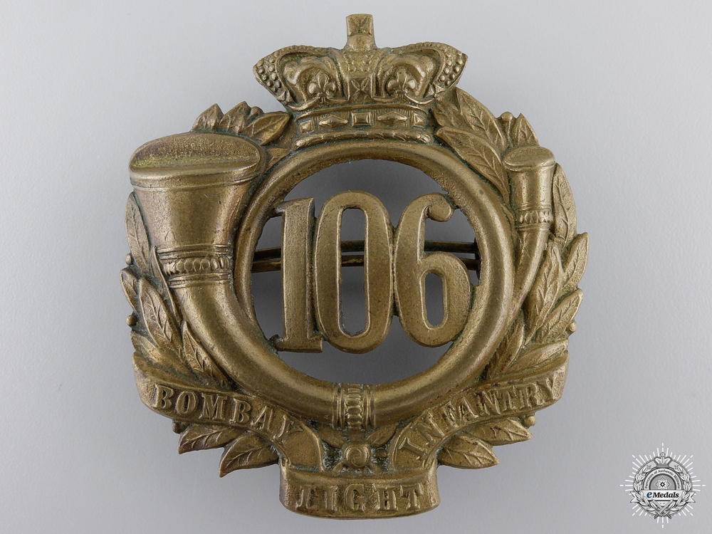 A Victorian 106th Bombay Light Infantry Badge