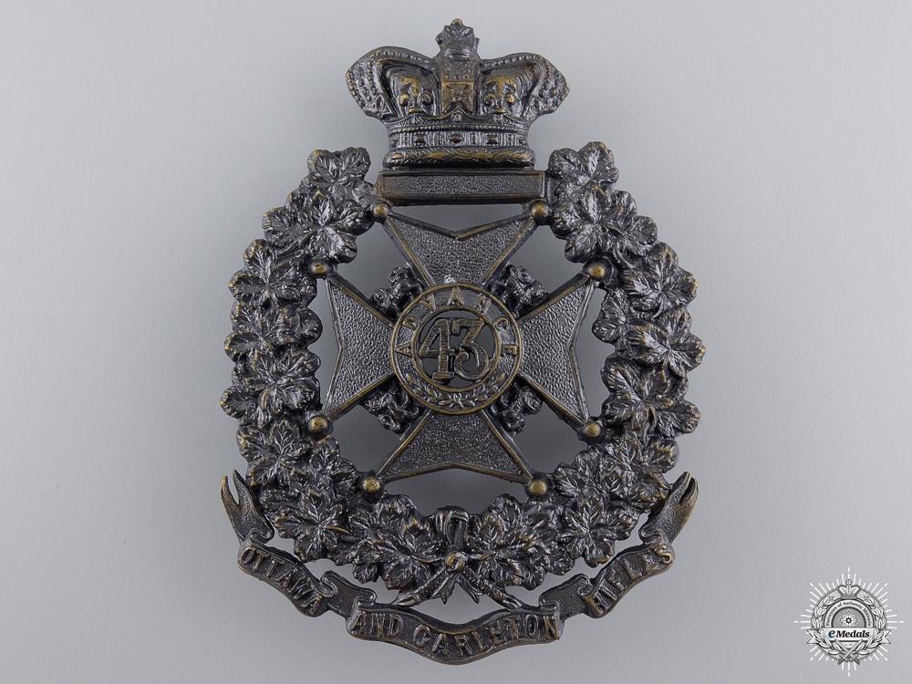 A Victorian 43rd Ottawa and Carleton Battalion of Rifles Badge