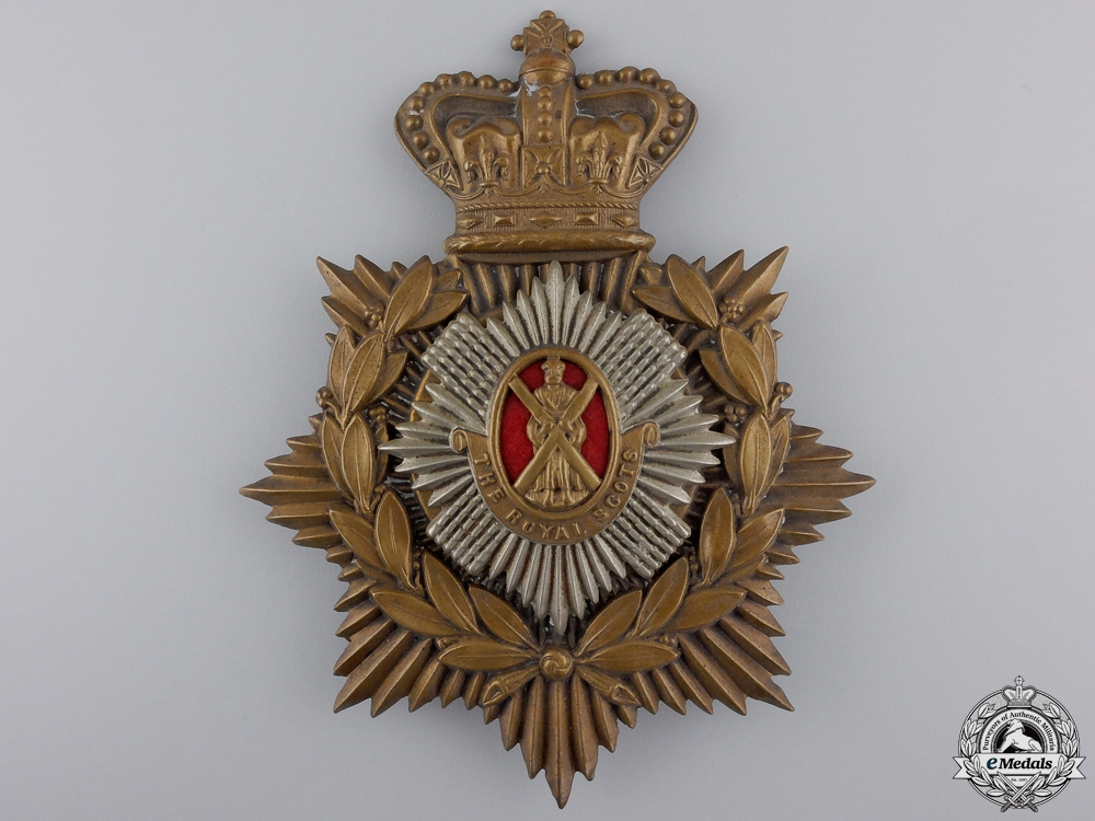 A Victorian Royal Scots Helmet Plate