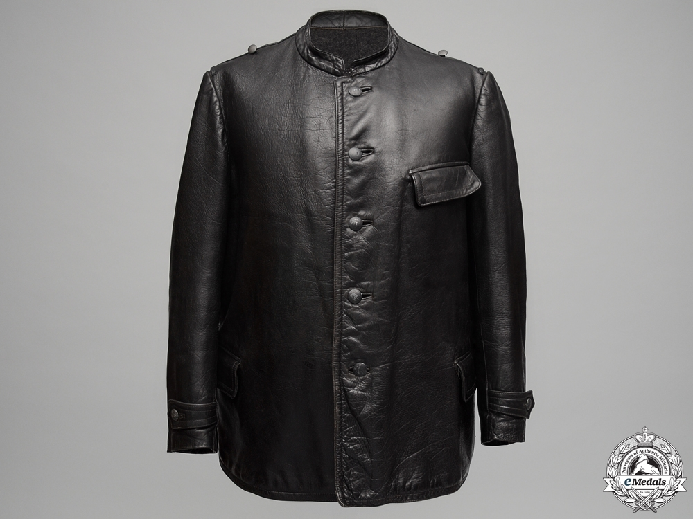 A Waffen 12th SS Panzer Leather Uniform by Rudolf Rinne